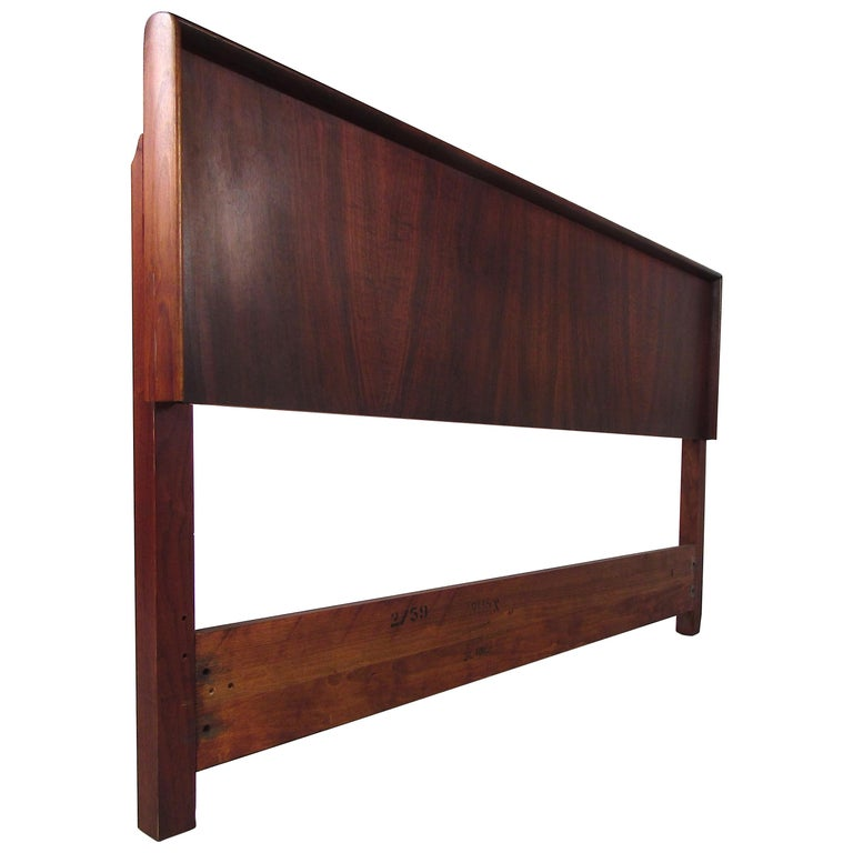 Mid-Century Modern Rosewood Double Sized Headboard For Sale