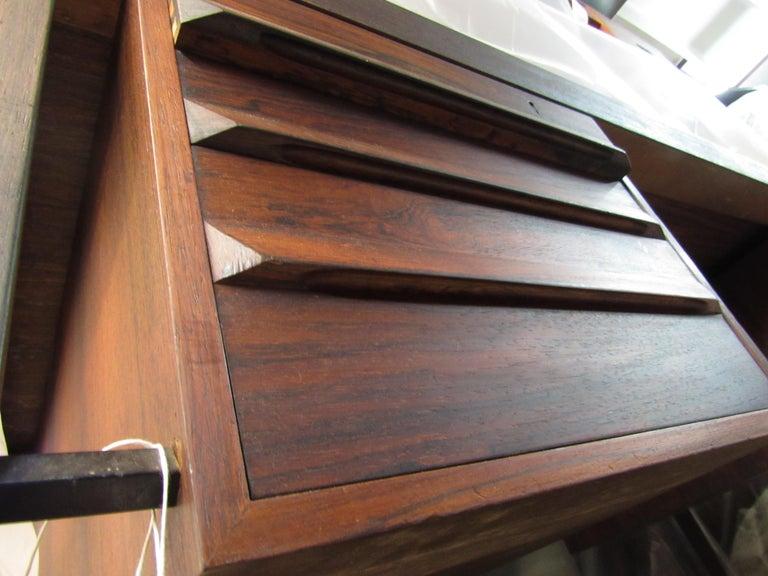 Mid-Century Modern Rosewood Executive Desk by Kai Kristiansen For Sale 8