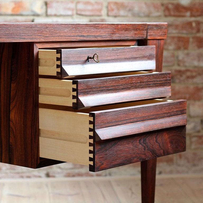 Mid-Century Modern Rosewood Executive Desk by Kai Kristiansen, Model 70, 1950s For Sale 5