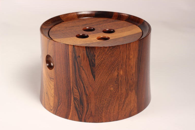 Scandinavian Modern Mid-Century Modern Rosewood Ice Bucket Designed by Jens Quistgaard For Sale