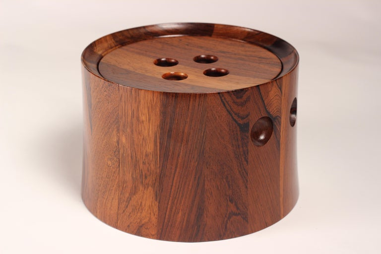 Danish Mid-Century Modern Rosewood Ice Bucket Designed by Jens Quistgaard For Sale