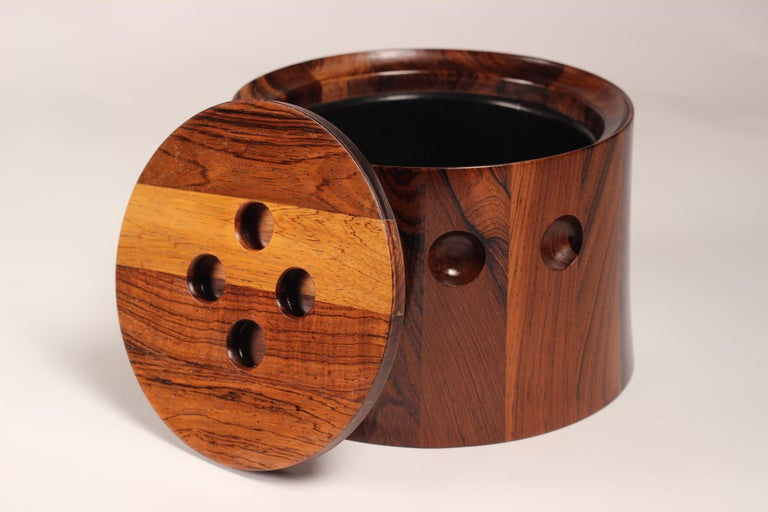 Mid-20th Century Mid-Century Modern Rosewood Ice Bucket Designed by Jens Quistgaard For Sale