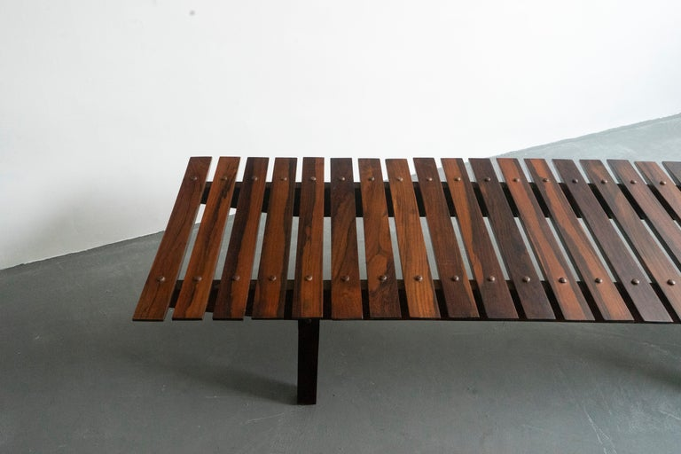 20th Century Mid-Century Modern Rosewood Mucki Bench by Sergio Rodrigues For Sale
