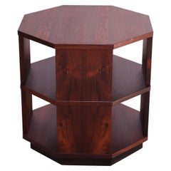 Mid-Century Modern Rosewood Octagonal Side Table