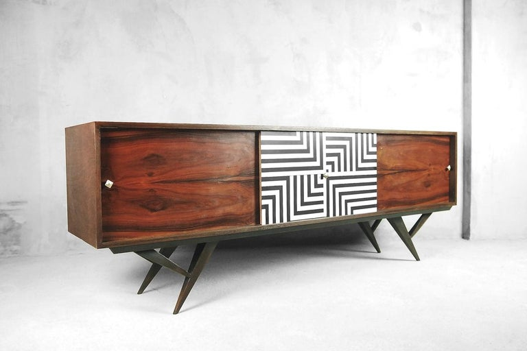 Mid-Century Modern Rosewood Organic Sideboard with Labyrinth Pattern, 1960s For Sale 7