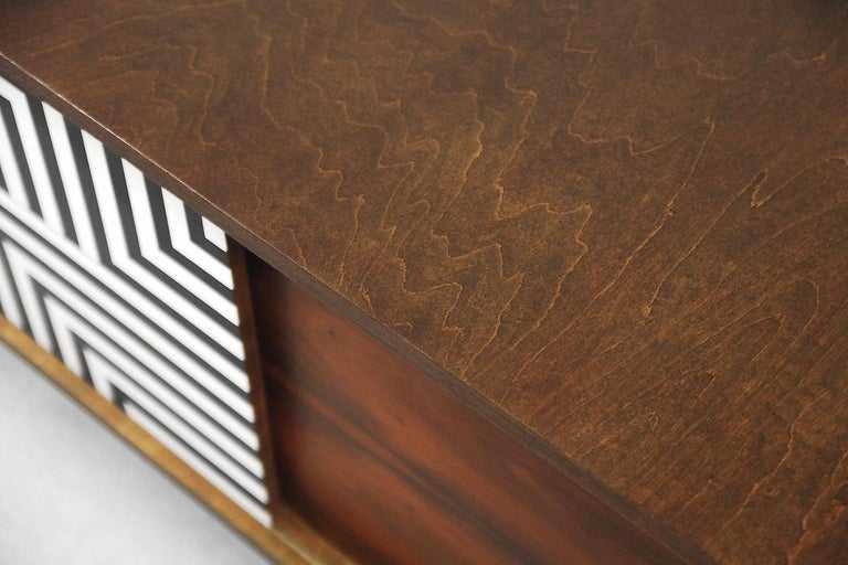 Mid-Century Modern Rosewood Organic Sideboard with Labyrinth Pattern, 1960s For Sale 3