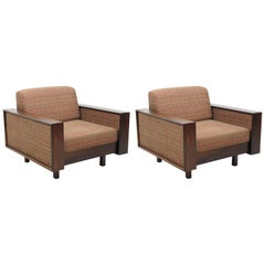 Mid-Century Modern Rosewood Pair of Armchairs by Celina Decorações, Brazil 1960s