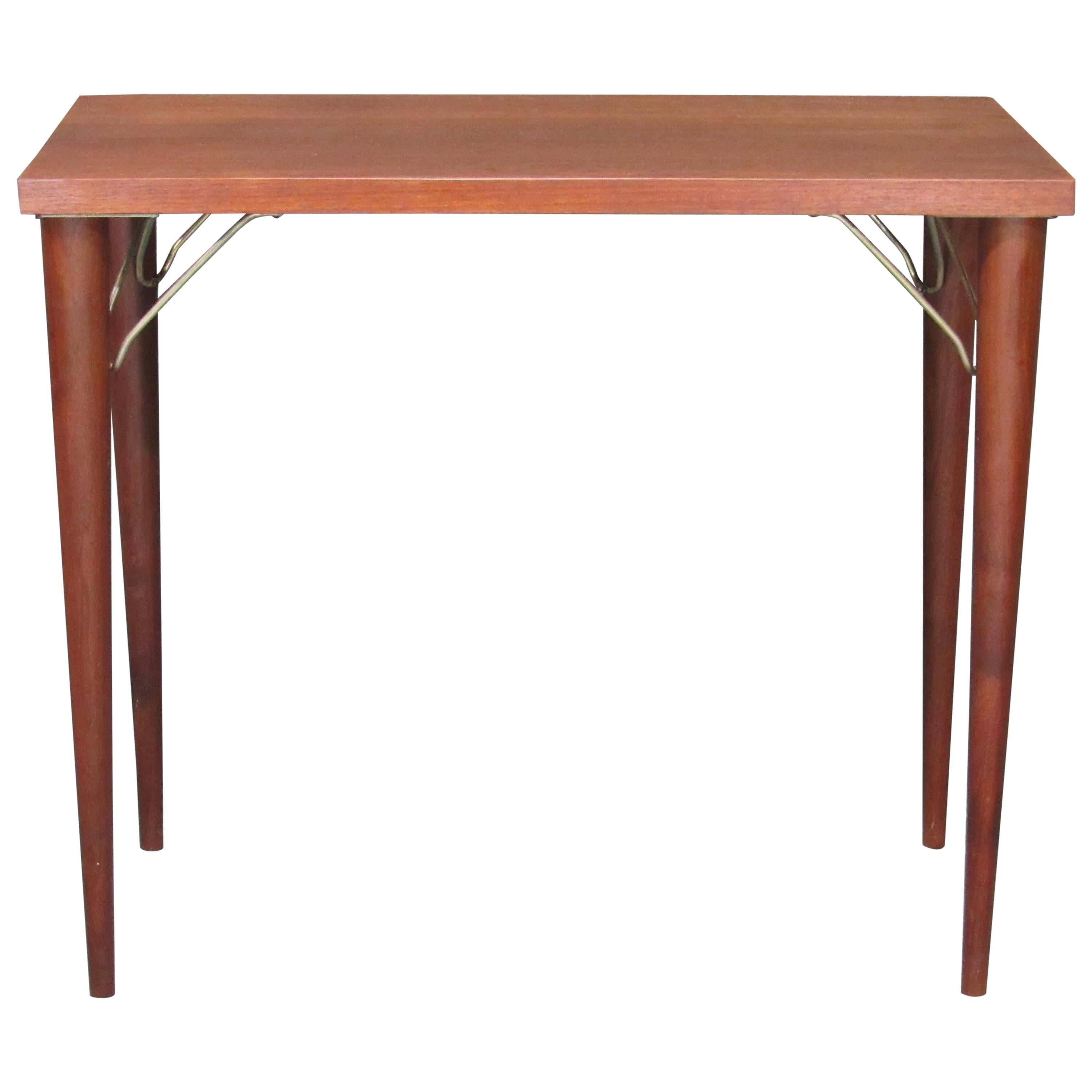 Mid-Century Modern Rosewood Sofa Console Table or Desk Return by Design Research