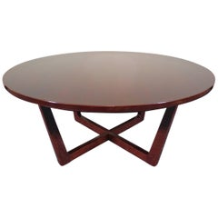 Mid-Century Modern Round Cocktail Table