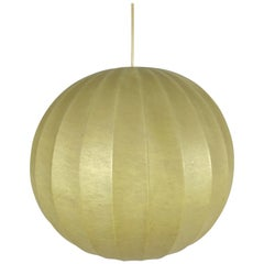 Mid-Century Modern Round Cocoon Pendant Lamp, 1960s, Italy