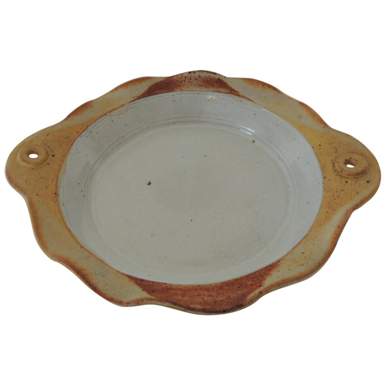 Mid-Century Modern Round Decorative Serving Bowl