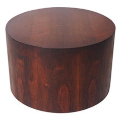Mid-Century Modern Round Drum End or Side Table by Milo Baughman in Rosewood