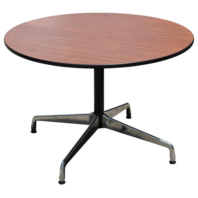 Mid-Century Modern Round Eames Office Table For Sale