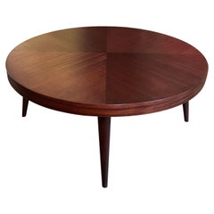 Mid-Century Modern Round Mahogany Coffee Table
