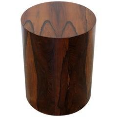 Mid-Century Modern Round Rosewood Drum Pedestal Display Stand, 1960s