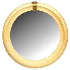 Mid-Century Modern Round Wall Mirror