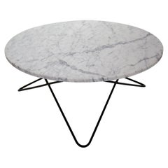 Mid-Century Modern Rounded Marble Center Table, Italy, 1950