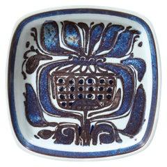 Mid-Century Modern Royal Copenhagen Stylized Blue Thistle Decorative Dish