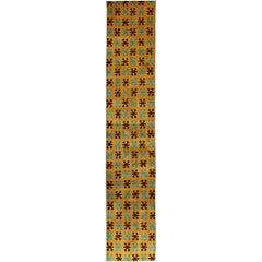 Mid-Century Modern Runner in Bright Yellow/Saffron