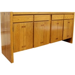 Mid-Century Modern Russel Wright for Conant Ball Wood Sideboard Credenza, 1950s
