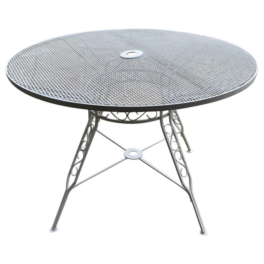 Mid-Century Modern Russell Woodard Style Patio Dining Table