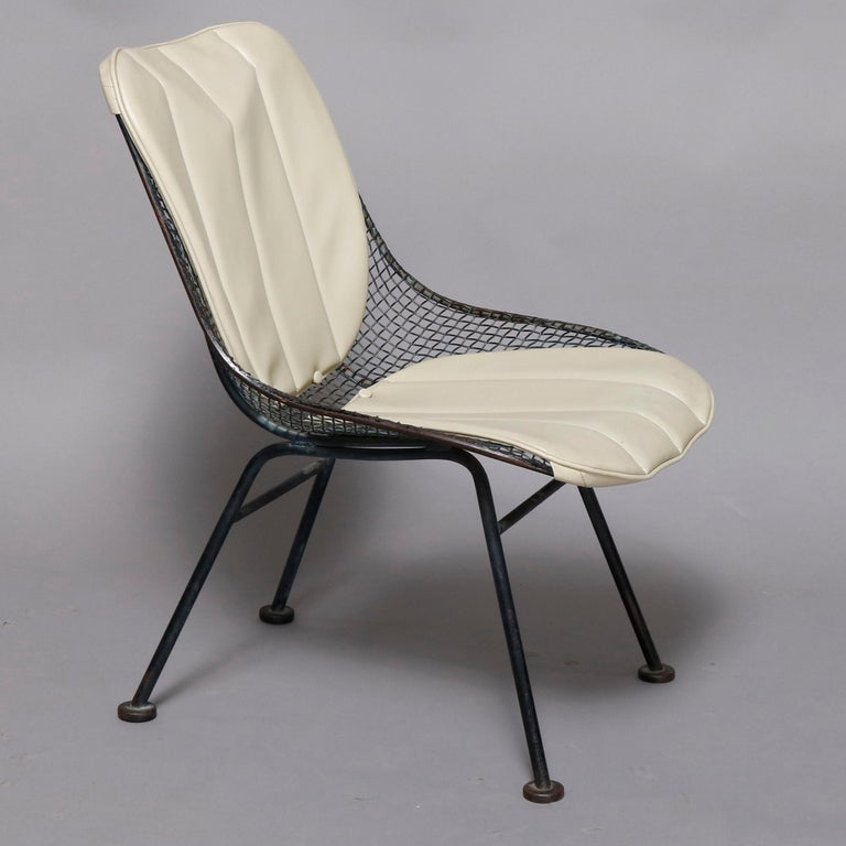 Mid-Century Modern Russell Woodward Mesh and Slate Dining Set, circa 1960 For Sale 9