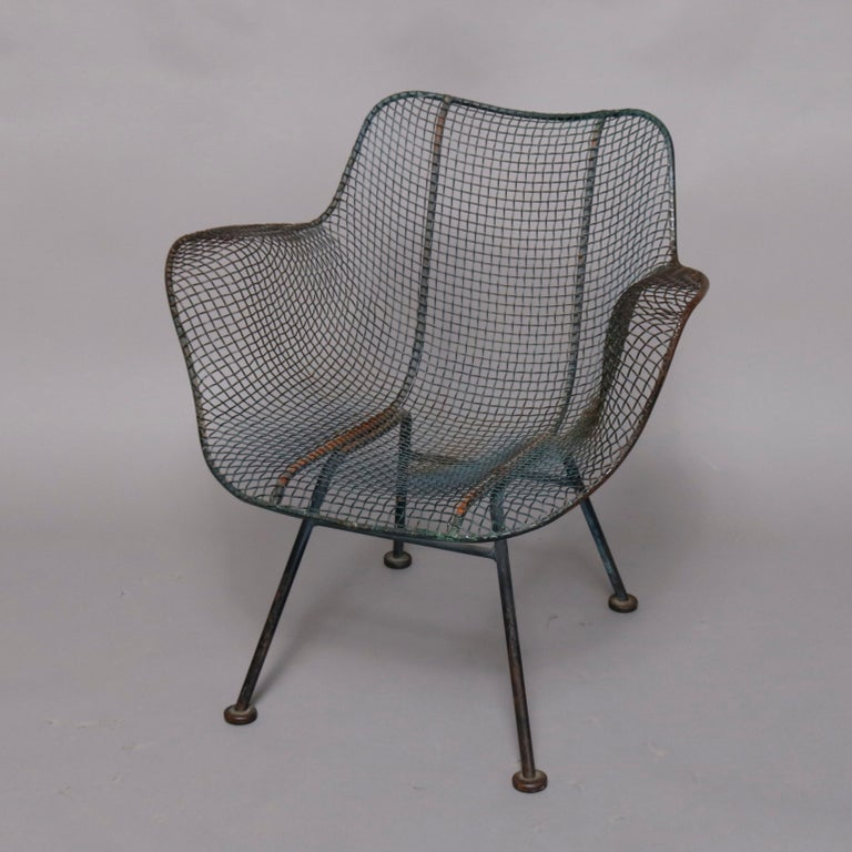 Mid-Century Modern Russell Woodward Mesh and Slate Dining Set, circa 1960 For Sale 10