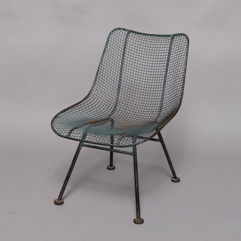 Mid-Century Modern Russell Woodward Mesh and Slate Dining Set, circa 1960 For Sale 11