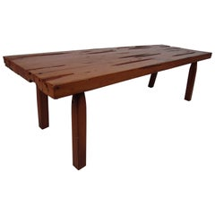 Mid-Century Modern Rustic Live Edge Coffee Table