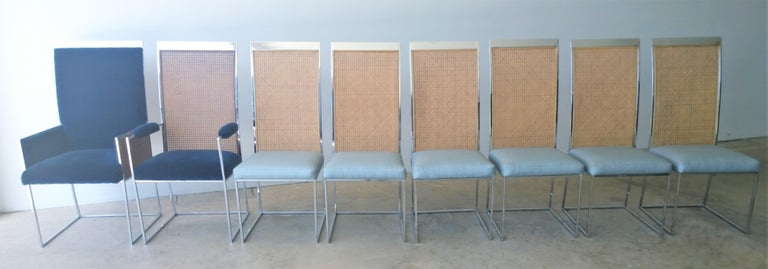 Offered is a set of eight Mid-Century Modern newly upholstered in