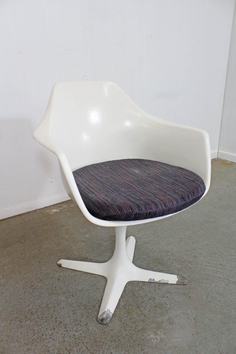 Incredible Mid Century Modern Saarinen Style Burke Tulip Arm Dining Chair Andrewgaddart Wooden Chair Designs For Living Room Andrewgaddartcom