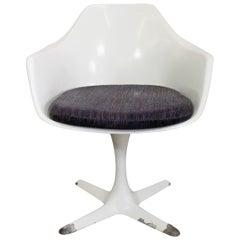 Mid-Century Modern Saarinen-Style Burke Tulip Arm Dining Chair