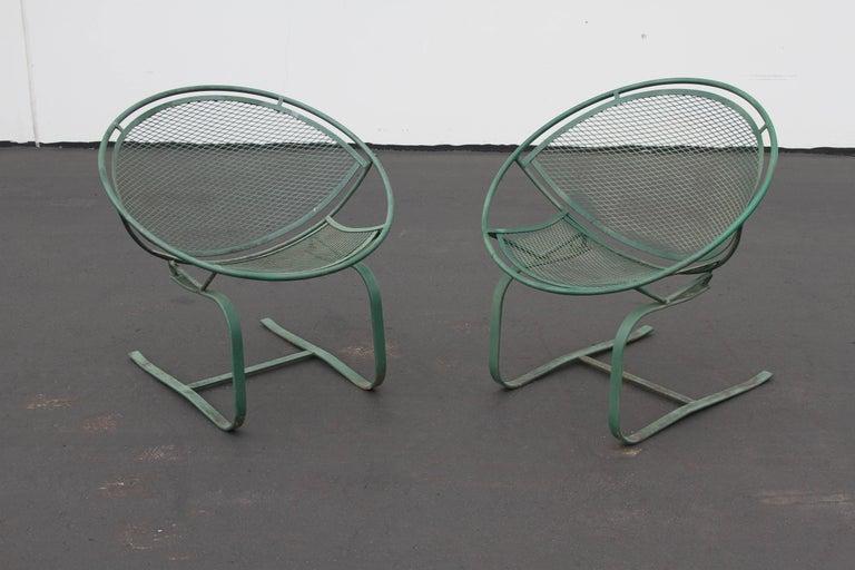 Mid-Century Modern Salterini Patio Set Table with Four Radar Chairs For Sale 6