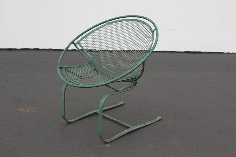 Mid-Century Modern Salterini Patio Set Table with Four Radar Chairs For Sale 7