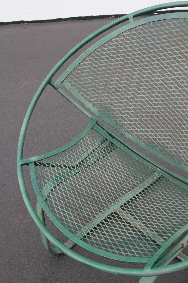 Mid-Century Modern Salterini Patio Set Table with Four Radar Chairs For Sale 8