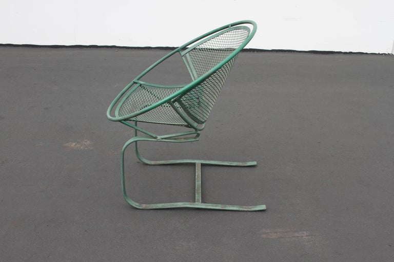 Mid-Century Modern Salterini Patio Set Table with Four Radar Chairs For Sale 9