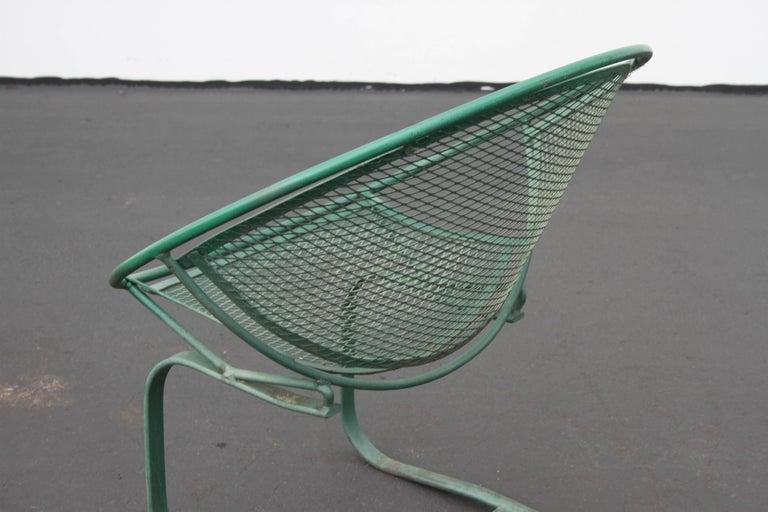 Mid-Century Modern Salterini Patio Set Table with Four Radar Chairs For Sale 11