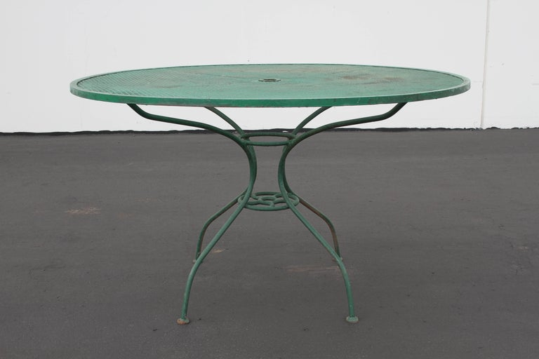 Very cool MCM Salterini patio set includes table and four springer
