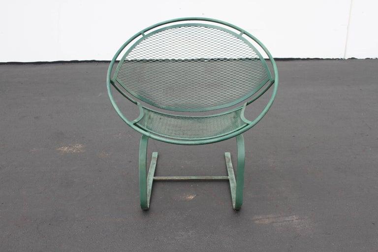 Mid-Century Modern Salterini Patio Set Table with Four Radar Chairs For Sale 13