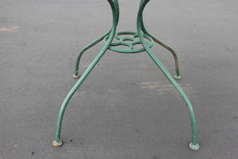 Painted Mid-Century Modern Salterini Patio Set Table with Four Radar Chairs For Sale
