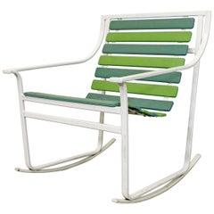 Mid-Century Modern Samsonite Outdoor Tubular Steel Rocking Chair