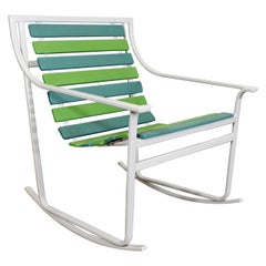Mid-Century Modern Samsonite Outdoor Tubular Steel Rocking Chair