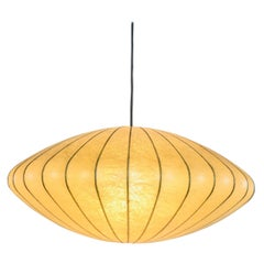 Mid-Century Modern Saucer Cocoon Pendant Lamp by George Nelson, 1960s