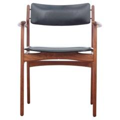 Mid-Century Modern Scandinavian Arm Chair in Teak by Erik Buck