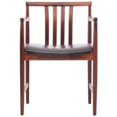 Mid-Century Modern Scandinavian Armchair in Rosewood by Westnofa