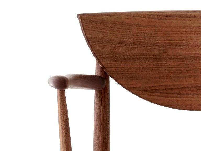 Mid-Century Modern Scandinavian Armchair Model 317 in Walnut For Sale 4