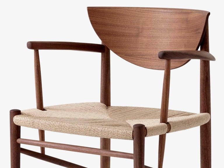 Mid-Century Modern Scandinavian Armchair Model 317 in Walnut For Sale 7