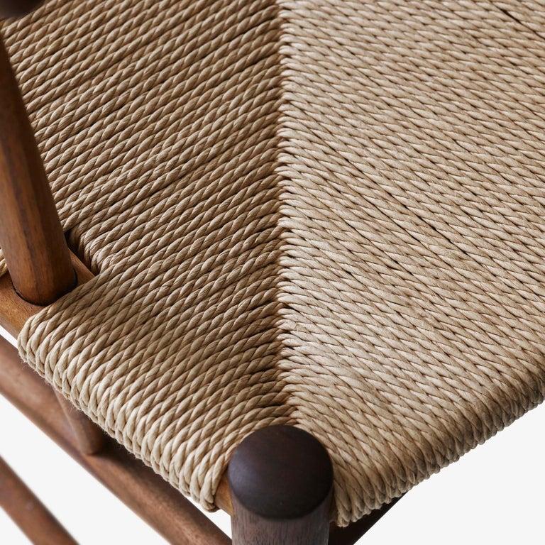 Mid-Century Modern Scandinavian Armchair Model 317 in Walnut For Sale 8