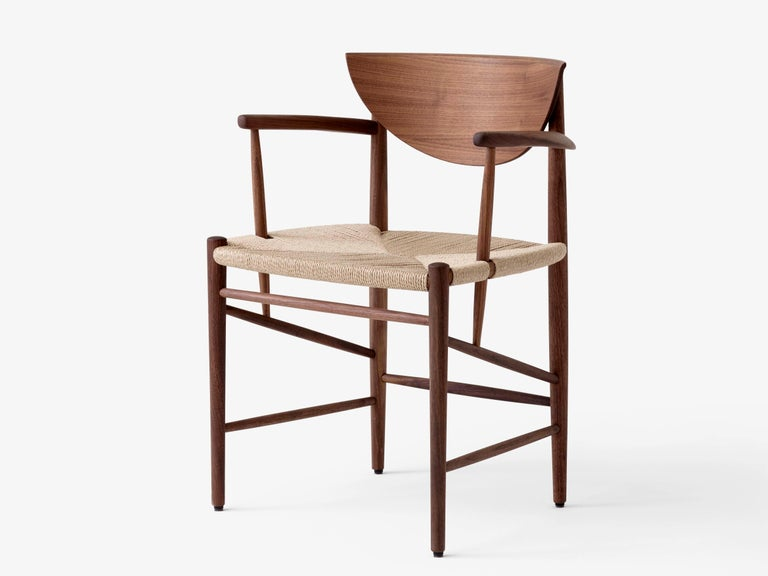 Drawn armchair HM4 or model 317 by Hvidt and Mølgaard. New edition. The 1956 Drawn chair by Hvidt & Mølgaard stands out as a definitive piece of Danish design. Relying upon traditional craftsmanship techniques and built out of organic materials, it