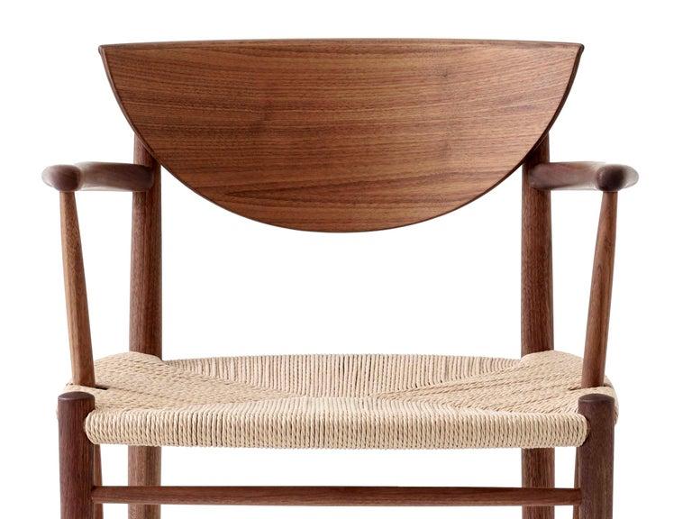 Contemporary Mid-Century Modern Scandinavian Armchair Model 317 in Walnut For Sale
